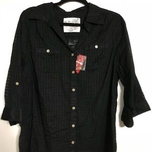 Black 3/4 sleeve blouse